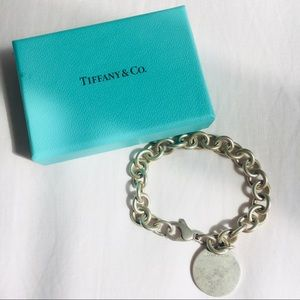 Tiffany & Co. Vintage Silver Round Charm Bracelet